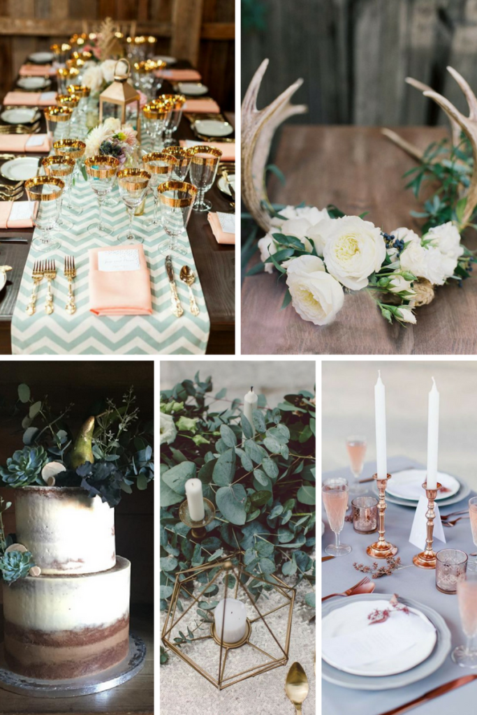 Wedding Trends for 2017 Antlers, Chevrons, Geometric Holders