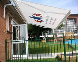 School Printed Awning