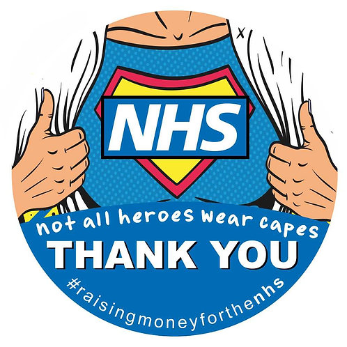 NHS Heroes Sticker 100% Profit Donated to NHS