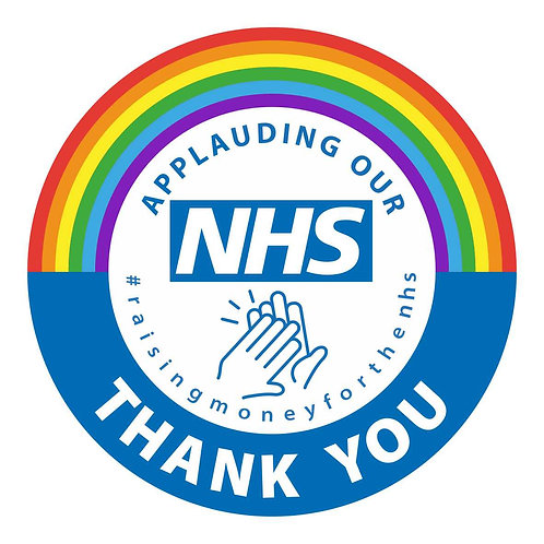 NHS Rainbow sticker 100% Profit Donated to NHS
