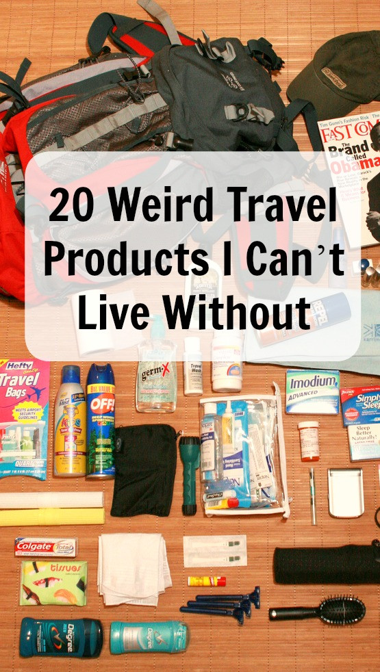 20 wierd travel products I cant live without