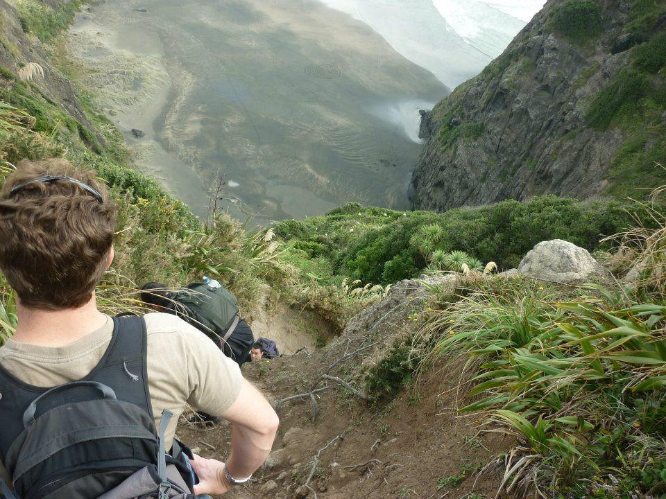 Hiking track to Mercer bay
