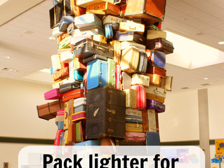Pack lighter for longer – 5 useful hacks on what not to include