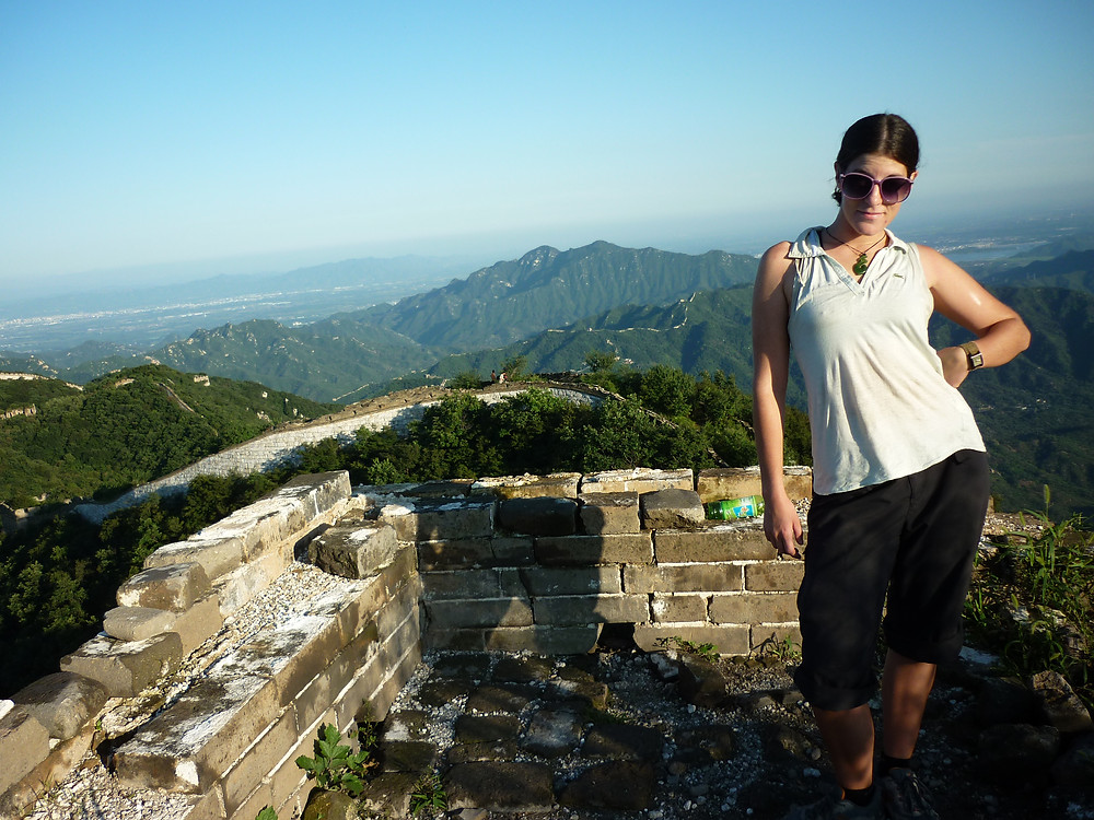 Ann K Addley on the great wall of china