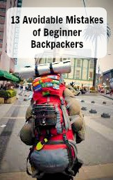 13 avoidable mistakes of beginner backpackers