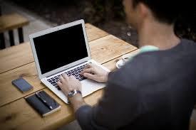 internet cafe, people on laptops