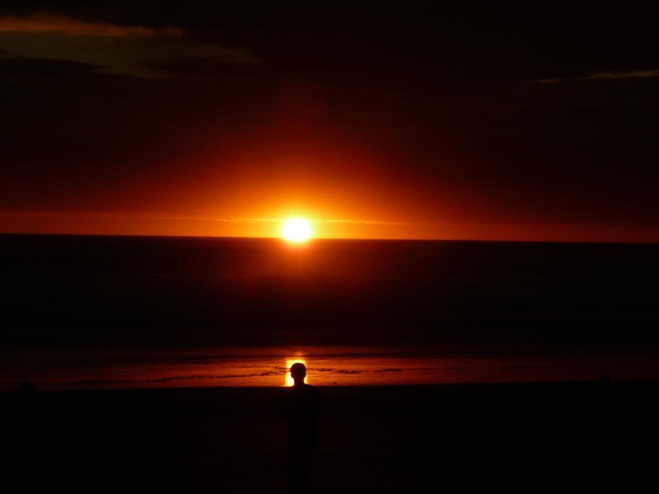 Auckland beach sunset