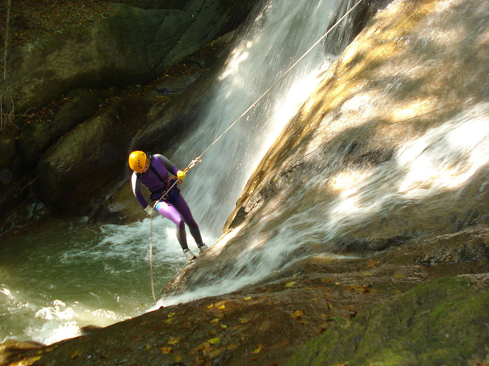 canyoning can be risky if the equipment is dodgy