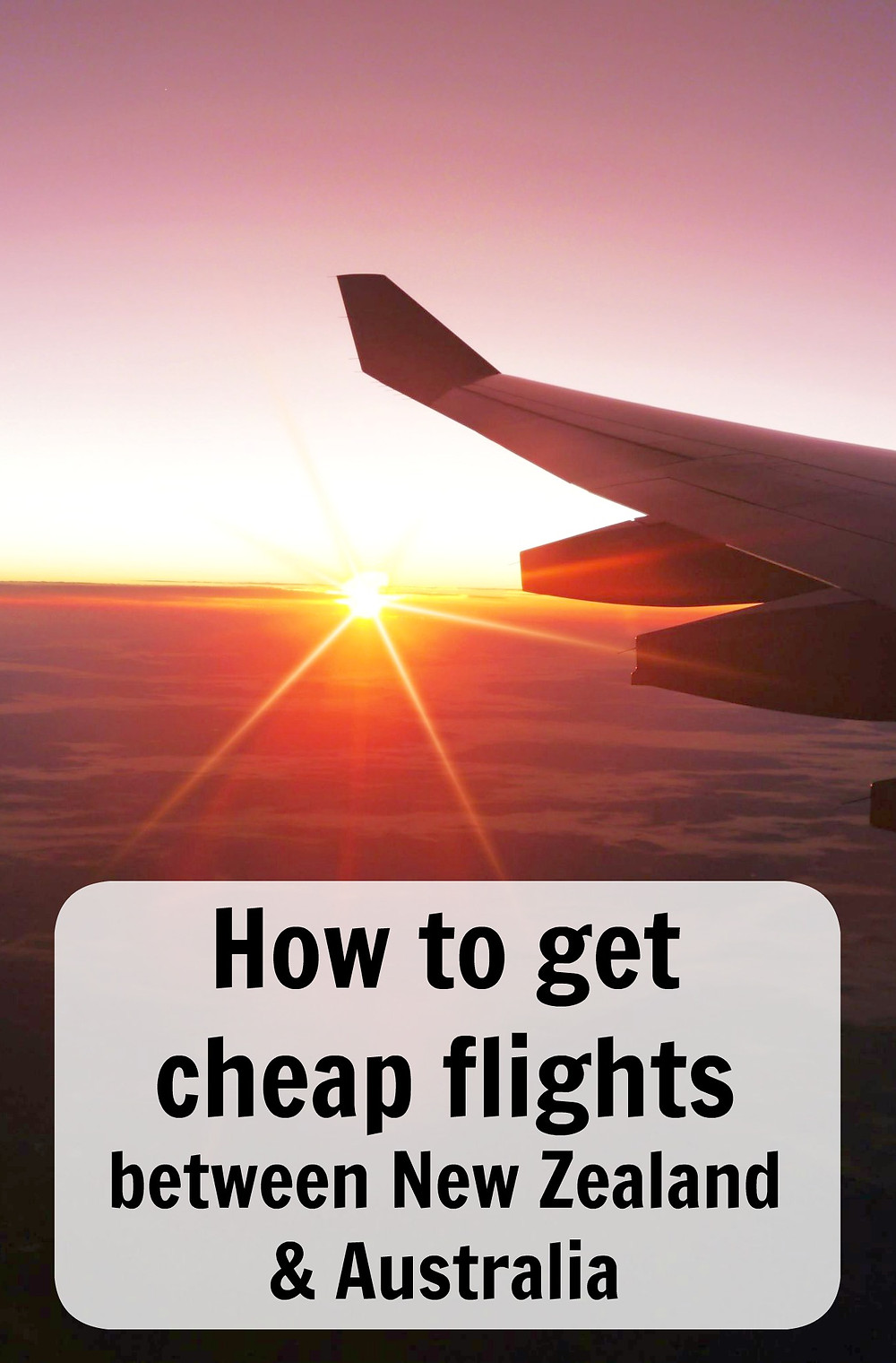 how to get cheap flights between New Zealand and Australia