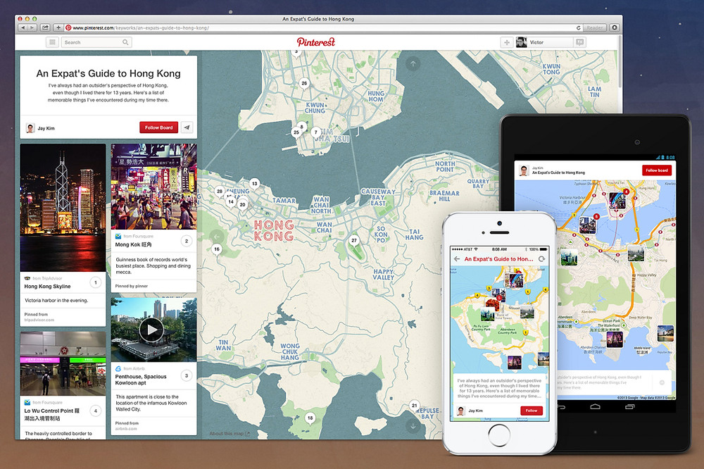 plan your holiday vacation or trip with Pinterest