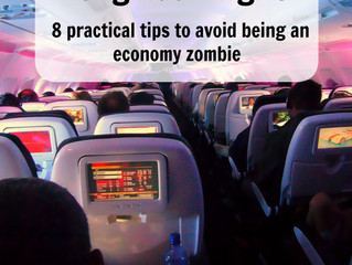How to survive a long haul flight – 8 practical tips to avoid being an economy zombie.