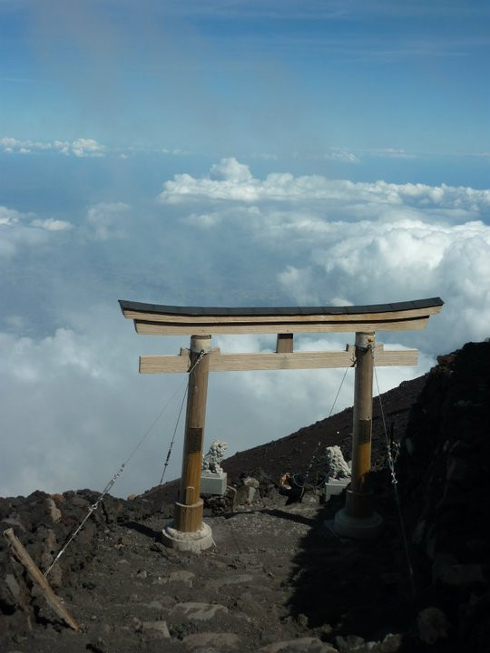 Above the clouds Mt Fuji