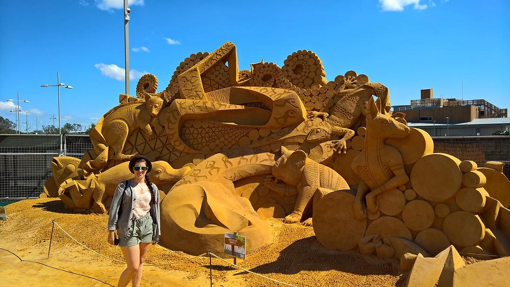Australia, Melbourne sand sculpting