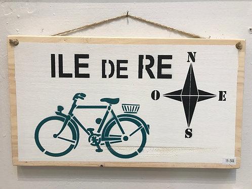Panneau rectangulaire en bois (île de Ré)
