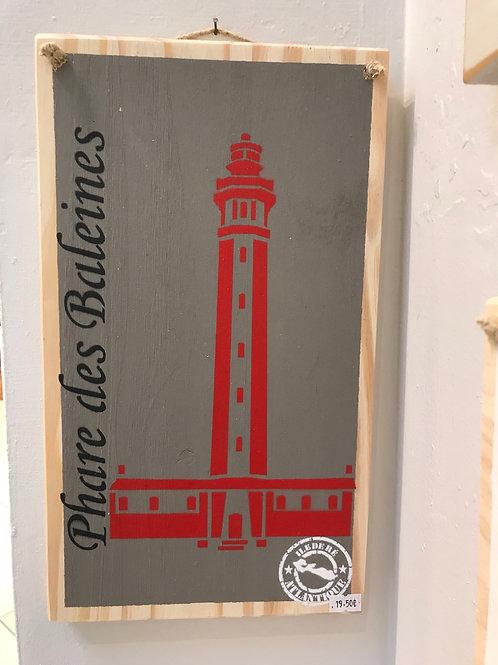 Panneau en bois rectangulaire (île de Ré )
