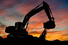 track-type loader excavator machine doin