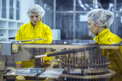 Two Pharmaceutical Factory Workers Weari
