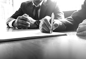 Business man sign a contract investment
