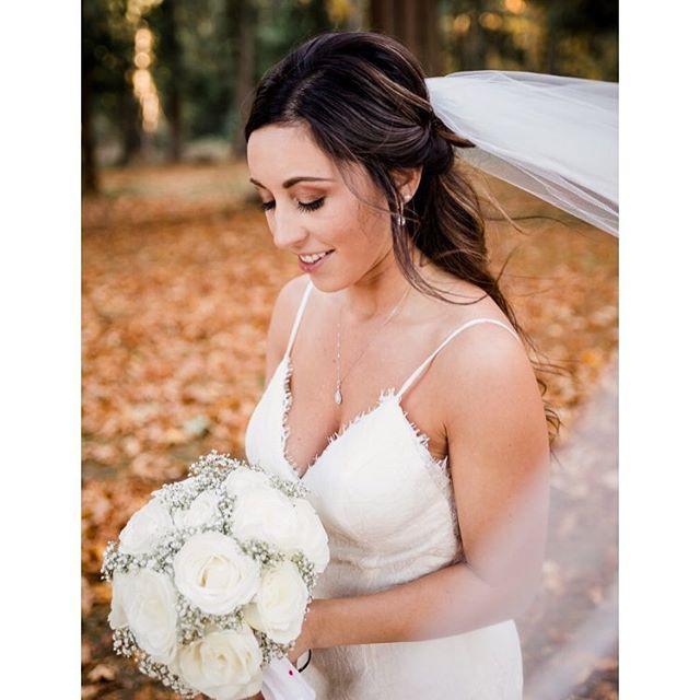 Bride Erica on her beautiful fall weddin