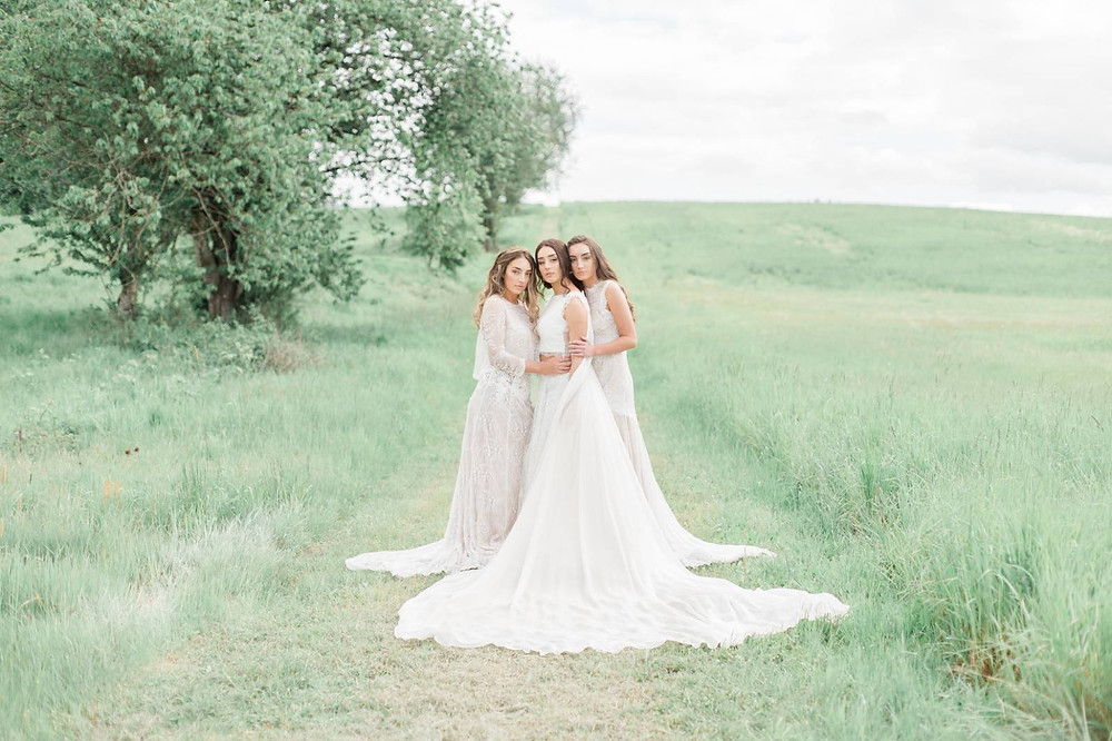 Three gorgeous sisters wedding hair and makeup styling by Pure Elegance Artistry
