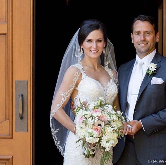 Happy couple after their Portland weddin