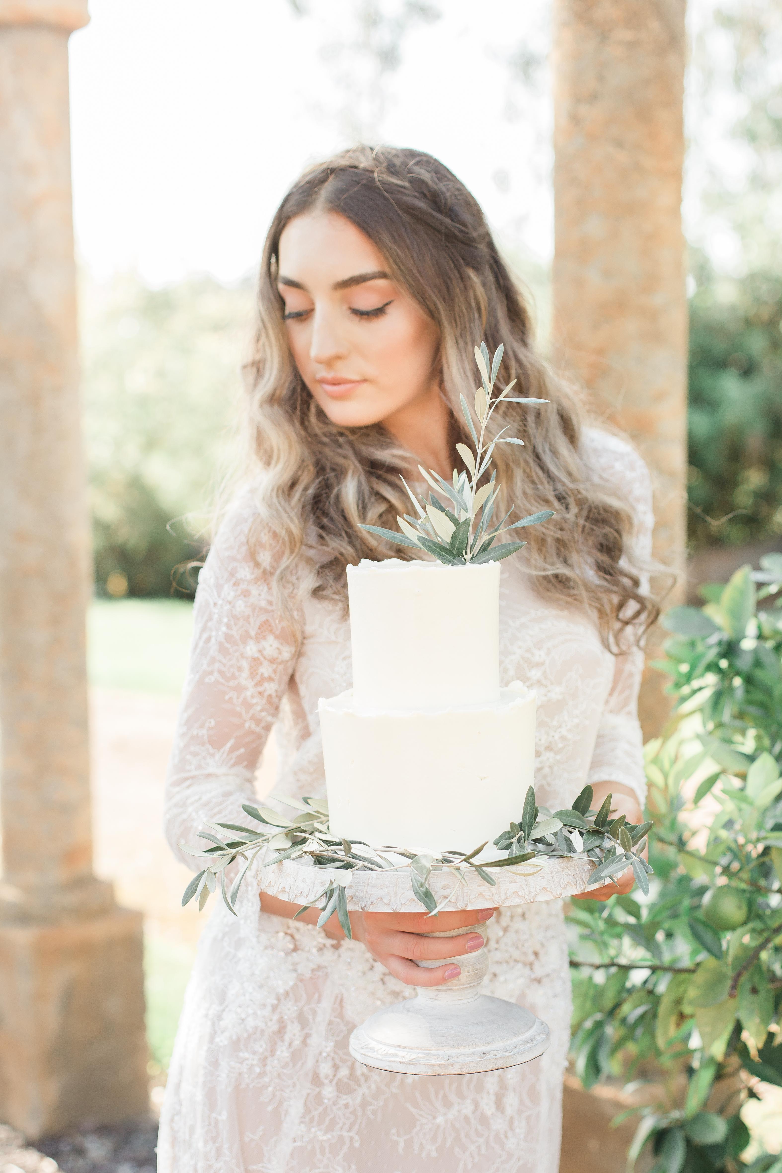 Bride at vineyard wedding