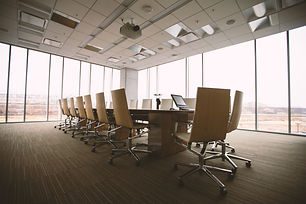 Empty corporate company meeting office