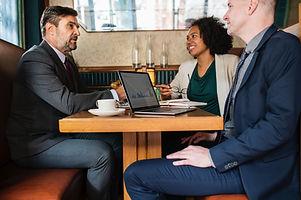 Corporate leadership team having an accountability meeting
