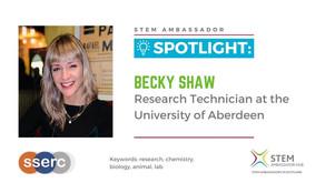 Spotlight: Becky Shaw, Research Technician at the University of Aberdeen