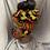Thumbnail: Yellow Two Piece Head wrap / Mask Set