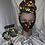 Thumbnail: Multi Color Three Piece Head wrap/Mask/Earring Set