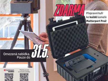 Přepravní kufr ZCELA ZDARMA k nákupu 3D kamery Matterport