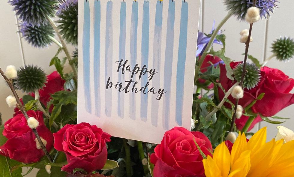 Eco-Friendly Watercolour Design Birthday Cards