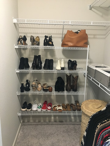 Easy Shoe Storage After Tidying