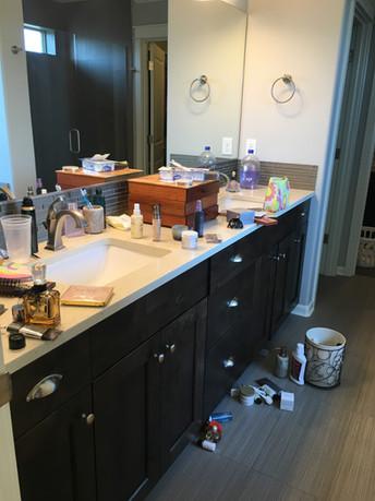 Bathroom Before Tidying