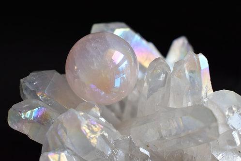 Rose Aura Crystal Sphere