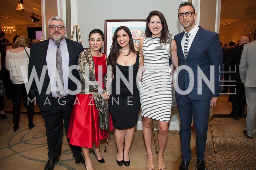 Leon Shahabian, Araz Shahabian, Natasha Ada, Liza Baron, Yass Monem-4.12.2016 ATFL Gala 2016-4264-XL
