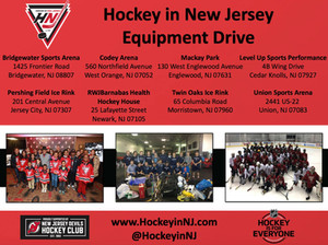 Hockey in New Jersey Equipment Drive