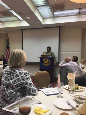 Stacy at Rotary