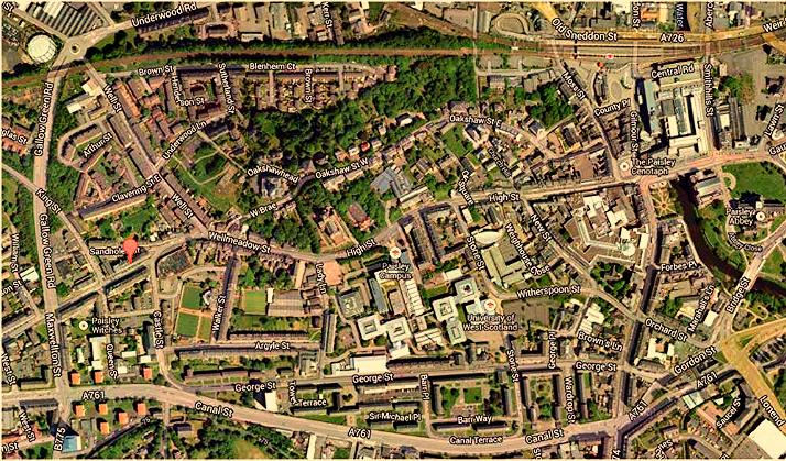 Broomlands Street Map