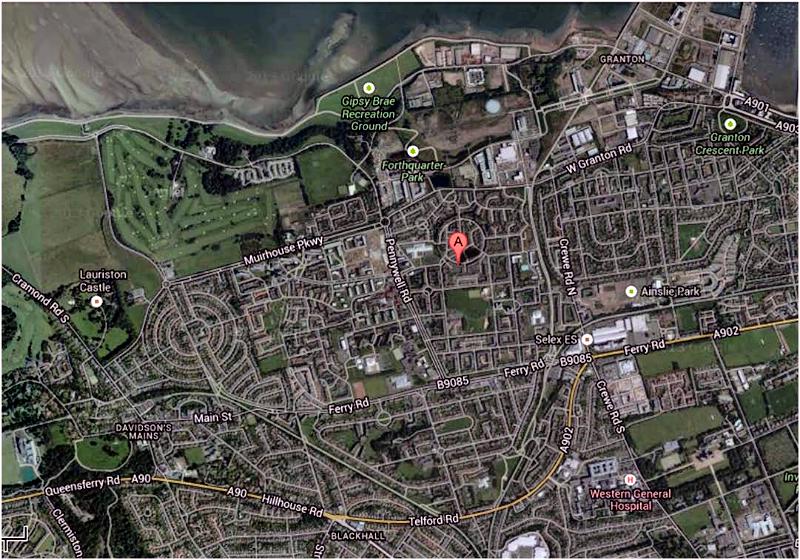 West Pilton Lea area map