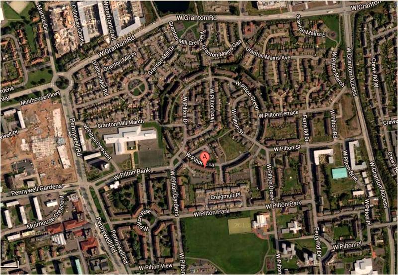 West Pilton Lea street map
