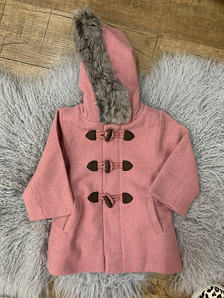 Purebaby Duffle Coat with Fur