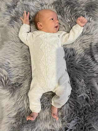 Knit cable Onesie