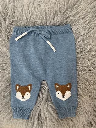 Fox knit pants