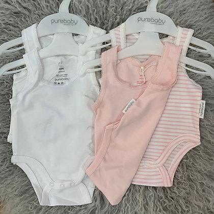 Purebaby Set of 2 bodysuit singlets