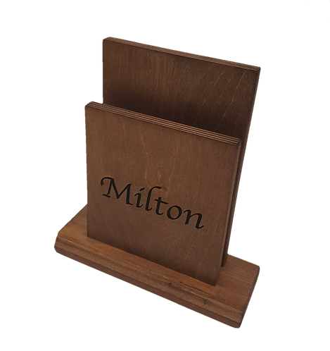 Milton Wooden Menu Holder
