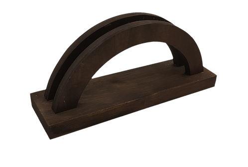 The Curve Wooden Menu Holder