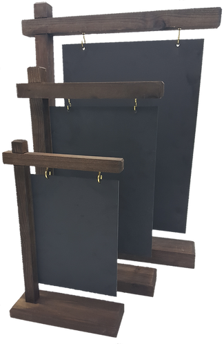 Wooden Chalk Board Gantry - A5 / A4 / A3