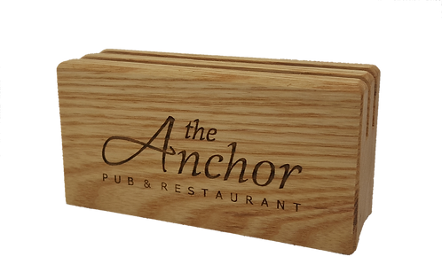 Ash Block Wooden Menu Holder